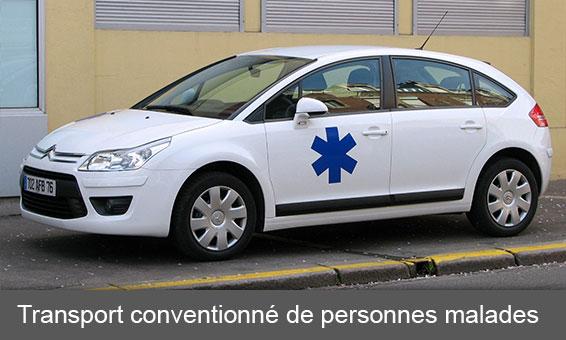Transport conventionné de personnes malades